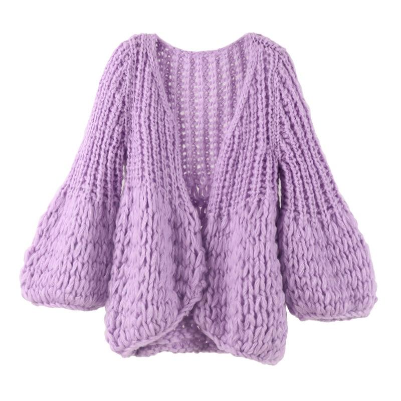b6721fc198 2017 Autumn Winter Knitted Crochet Sweater for Women Chunky Oversize  Cardigan Coat Open Female Sweaters Cardigan Women Knitwear-in Cardigans  from Women s ...