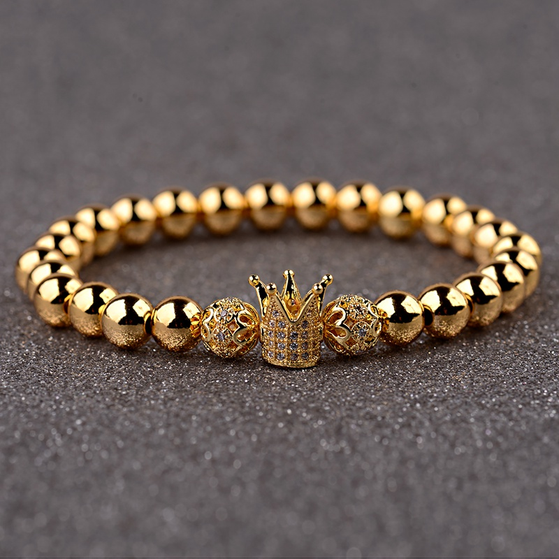 HTB1XXUHbh rK1RkHFqDq6yJAFXaz - Gold Crown coupe bracelets 2pcs set