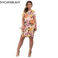 2017 Summer Style Print Women Dress Autumn 6XL 5XL Large Size Dresses Big Sizes Short