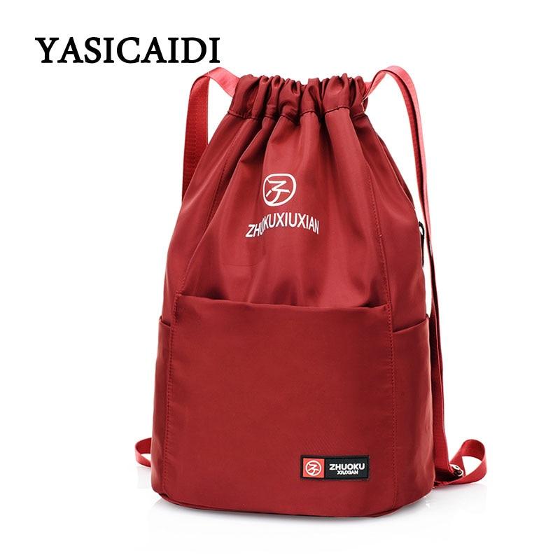 Oxford Drawstring Backpack Female Teenage Girl Women School Bag Backpacks Nylon Waterproof Casual Bagpack Female Drawstring