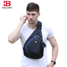 BaLang Messenger Shoulder Bag Male Functional Multilayer Large Capacity Chest Pack for Men Casual Bag Men Nylon Black/Blue/Gray(China)