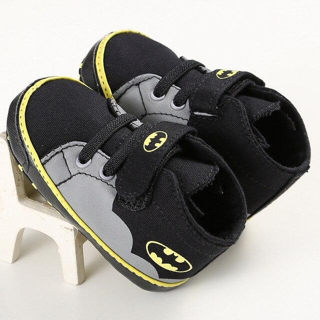 2019 Новая мода милый мультфильм Супермен Бэтмен демисезонный детская кроватка для новорожденных Babe для мальчиков и девочек обувь малышей новорожденных