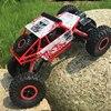 RC Car 2.4G Rock Crawler Bigfoot 4 Wheel Drive Double Motors Radio Remote Control Climbing Off Road 1/18 Scale Vehicle Model Toy