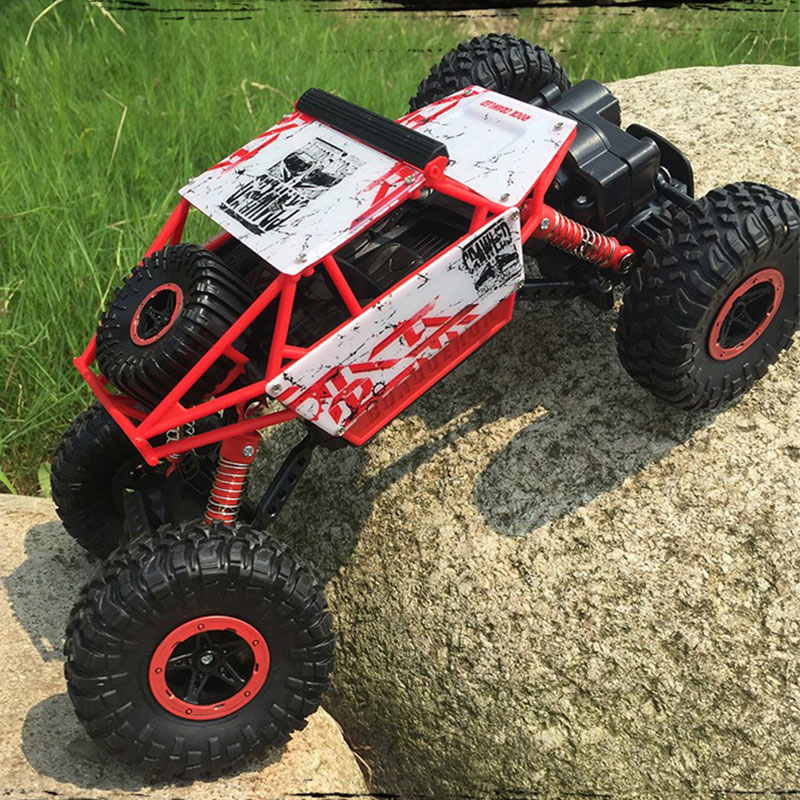 RC Car <font><b>2</b></font>.4G Rock Crawler Bigfoot 4 Wheel Drive Double Motors Radio Remote Control Climbing Off Road <font><b>1</b></font>/18 Scale Vehicle Model Toy