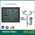 MISOL/estación meteorológica profesional/dirección del viento velocidad del viento medidor de presión de temperatura y humedad de lluvia UV