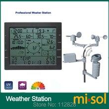 Профессиональные метеостанции/скорость ветра winddirection rainmeter давления температуры и влажности УФ/с solarchargefunction открытый