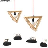 Pendant Lights Wooden simple nordic Modern Pendant Lamps For Restaurant/Bar luminaire pendientes Home Decoration lamparas bar