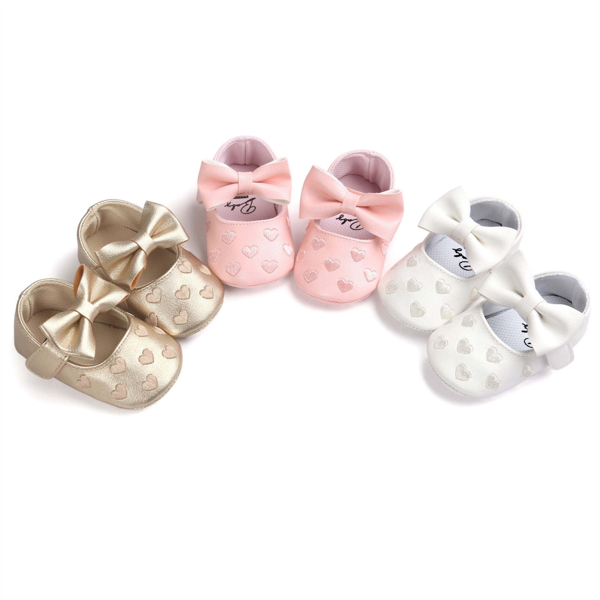 Newborn Baby Shoes 2018 Fashion Kids Baby Girls PU Leather First Walkers Cute Non-slip Shoes Infant Girl First Walkers