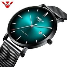 Часы NIBOSI Мужские кварцевые, простые модные роскошные креативные водонепроницаемые повседневные, швейцарский бренд, с датой