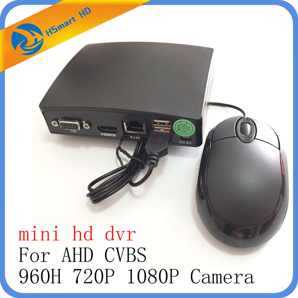 4CH Mini AHD 1080N Micro DVR CCTV Security 5 IN 1 HD DVR Recorder Card For