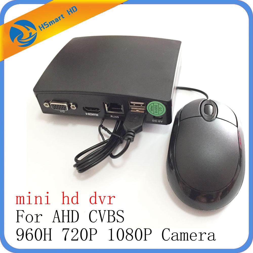 4CH Mini AHD 1080N Micro DVR CCTV Security 5 IN 1 HD DVR Recorder Card For CCTV CVBS AHD 720P 1080P Security Camera