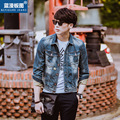 New Style Men's denim outerwear men's short denim jacket fashion jeans autumn spring denim jackets coat