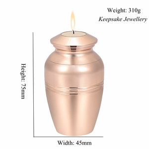 Image 4 - In Memory of Loss Lover Mini Cremation Urn Engravable Funeral Candlestick Hold Ashes Keepsake Stainless Steel Cremation Jewelry