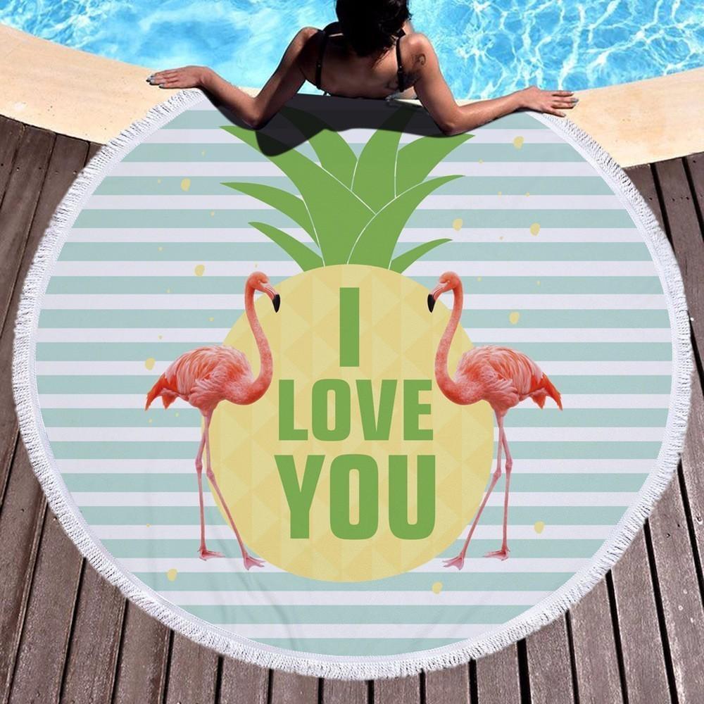 Large Oversized Microfiber Round Beach Towel Flamingo Girls Women Adults Thick Terry Toalla Redonda Playa Serviette De Plage Buy Now Home
