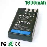 EN-EL9a es EL9a ENEL9a EN-EL9 es EL9 ENEL9 cámara SLR Paquete de batería para Nikon D40 D60 D40X D5000 D3000 L15 bateria