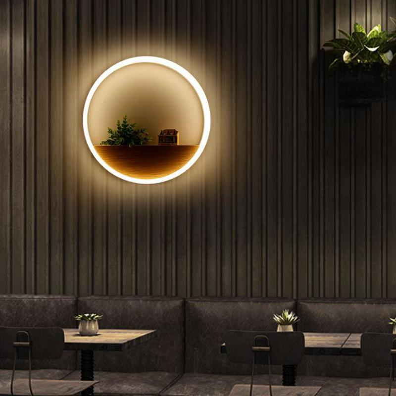 Interior Led Lights For Home: Modern Fashion Acrylic Wall Lamp Restaurant Lamp Interior