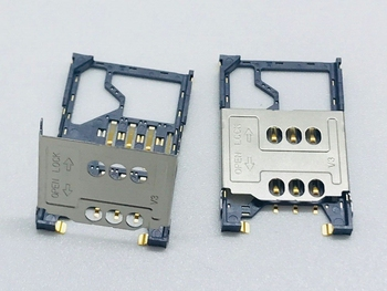 SMK MOLEX LCN Bar Flip Big Micro SIM Card Slot Tray Holder Adapter 2in1 Old Machine High Quality PCB Board Socket Connector 8pin image