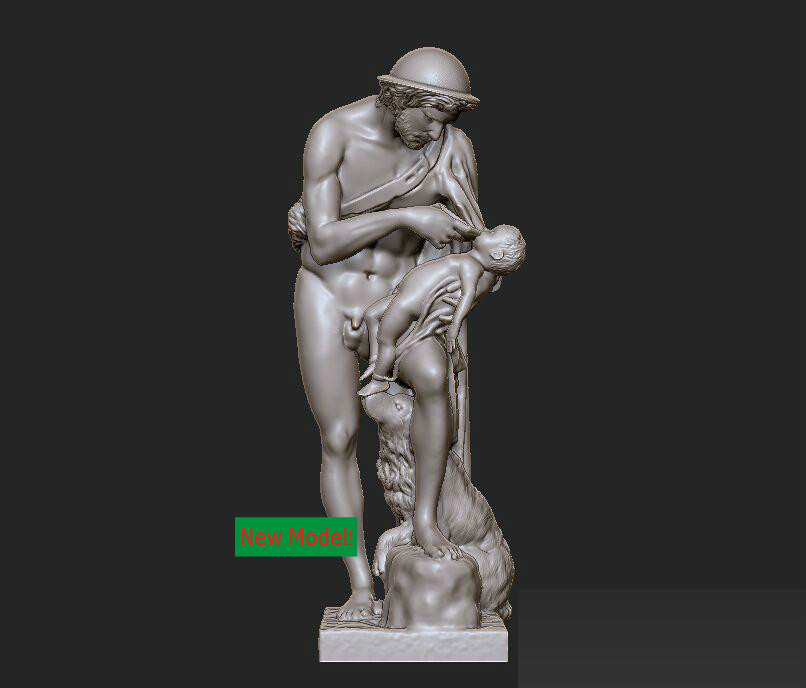 New model 3D model for cnc or 3D printers in STL file format Oedipus christian cross 3d model relief figure stl format religion 3d model relief for cnc in stl file format