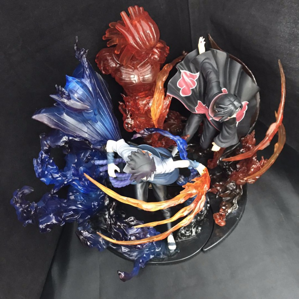Anime Naruto Shippuden Zero Uchiha Itachi Uchiha Sasuke Susanoo model Decoration PVC action figure collection model toy ynynoo naruto sasuke kurama pvc action