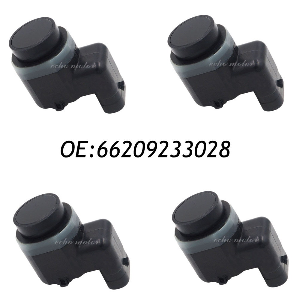 New 4pcs PDC Parking Sensor Bumper Object Reverse Assist Radar 66209233028 9233028 For BMW new set 4 9288230 pdc parking distance sensor reverse assist for bmw 0263013972