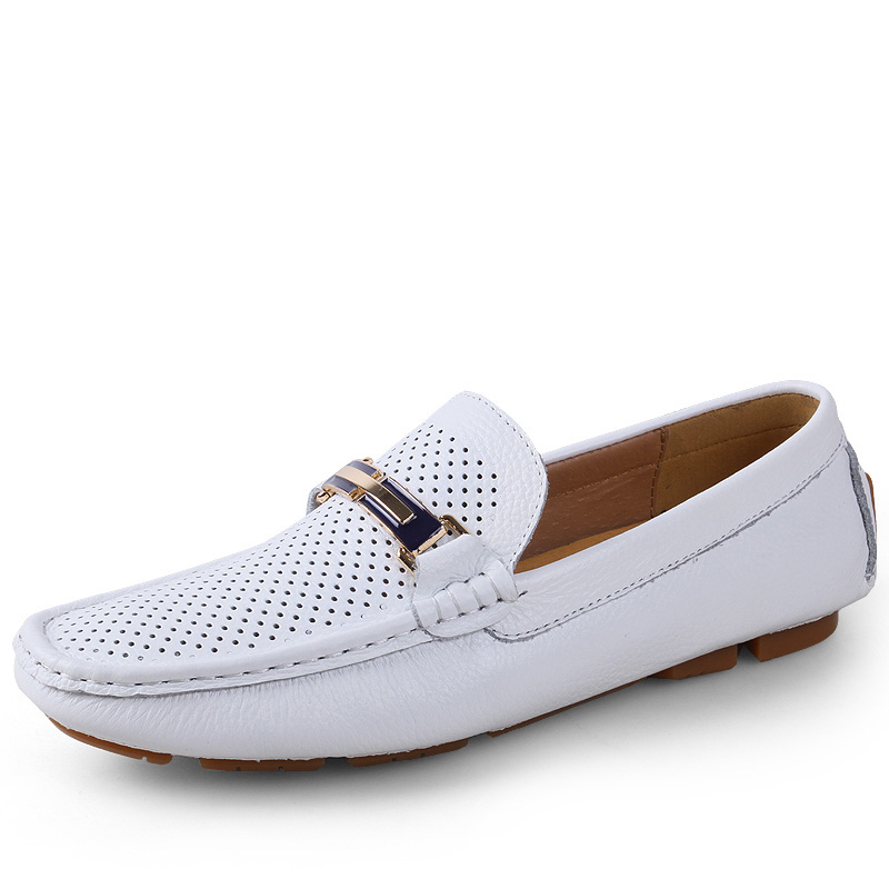 Men Loafers 2017 Casual Boat Shoes Fashion Genuine Leather Slip On Driving Shoes Moccasins Hollow Out Men Flats Gommino size 46 handmade genuine leather men s flats casual haap sun brand men loafers comfortable soft driving shoes slip on leather moccasins