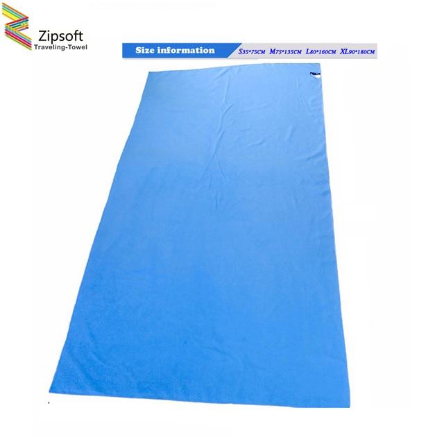 Zipsoft марка пляж towel microfiber путешествия ткань быстро высыхает на открытом воздухе спортивного плавания кемпинг ванна yoga mat одеяло тренажерный зал 2017