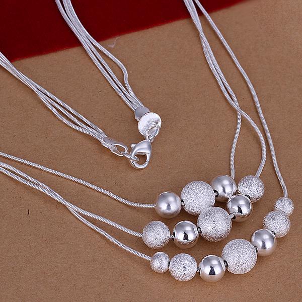 Серебро 925 колье и серьги три бусины больше чем два женские модели набор серебряных международная торговля костюм S122