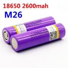 LiitoKala 5 PCS 100% original for LG M26 18650 10A 18650 li-ion rechargeable battery 2600 mah battery safe power for ecig / scoo