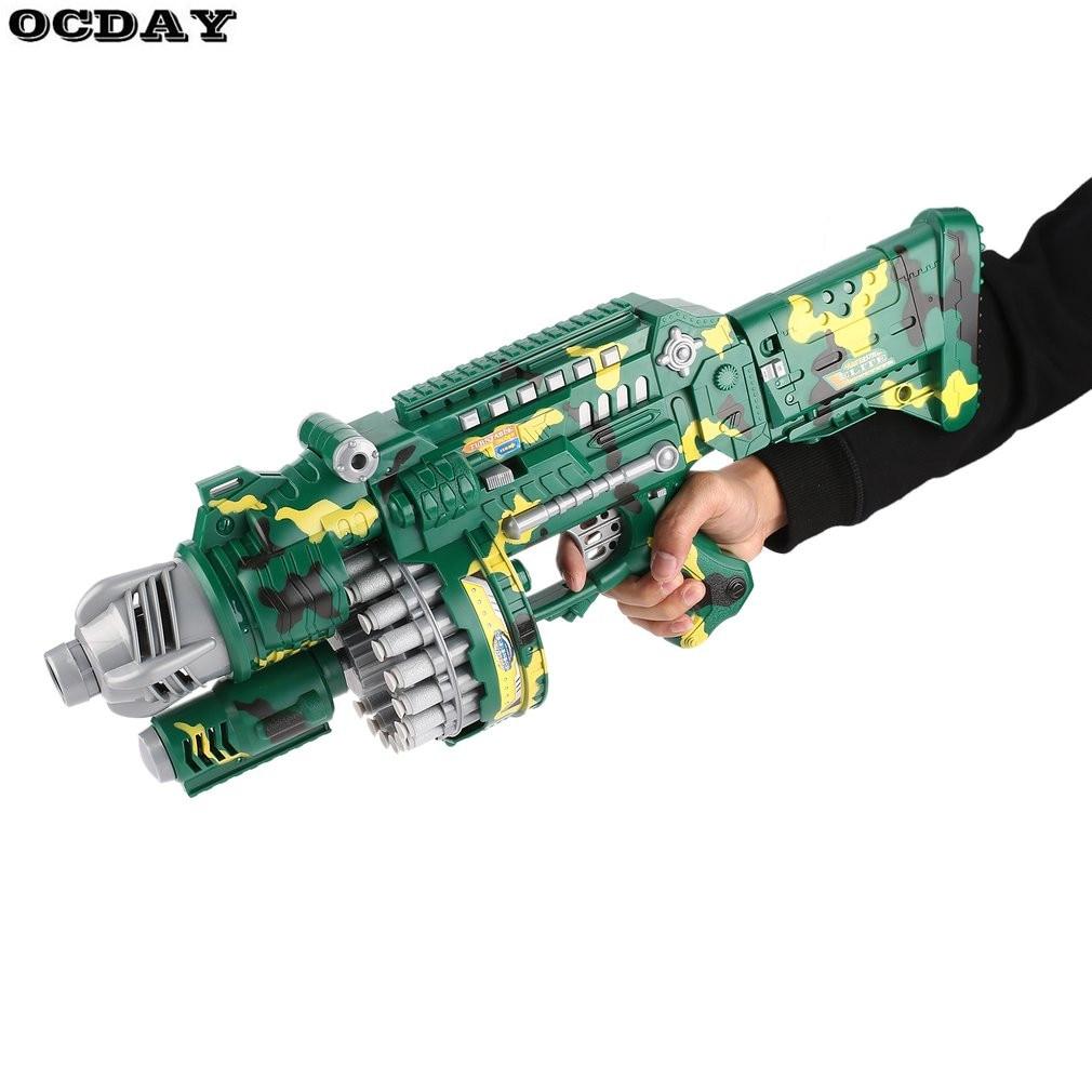 все цены на SB253 USB Electric Soft Bullet Blaster Toy Gun With 40pcs Darts Loading Toy Submachine Gun Gift For Children Weapon Outdoor Game онлайн