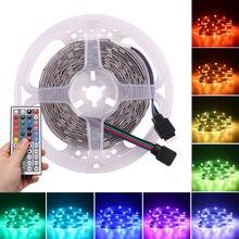LEVOU a Fita 10 M 5050 SMD RGB Multicolor LEVOU Faixa de Luz Infravermelho do Controle Remoto Chaves Power 12 44 V Decoração quarto da Festa de Natal