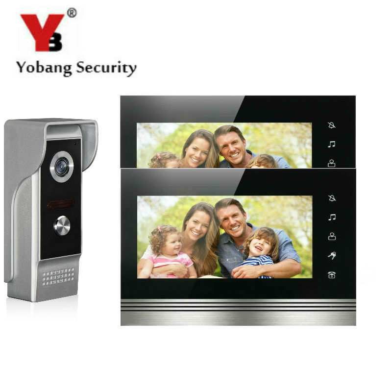 YobangSecurity 7Inch Touch Screen Video Door Phone Doorbell Intercom Monitor Visual Security Camera Bell System For Home Office yobangsecurity black 7 inch color tft lcd screen monitor wired video doorbell camera system for house office apartment