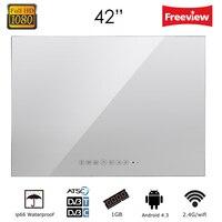Souria 42 Smart Vanishing Mirror IP66 Magic Mirror Advertising Display Hotel Waterproof SPA TV Wall Mounting Android LED TV