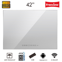 Souria 42 Smart Vanishing Mirror Ip66 Magic Mirror Advertising Display Hotel Waterproof SPA TV Wall Mounting