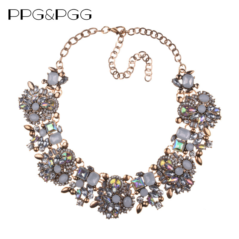 PPG&PGG New Women Fashion Jewelry Short Design Crystal State