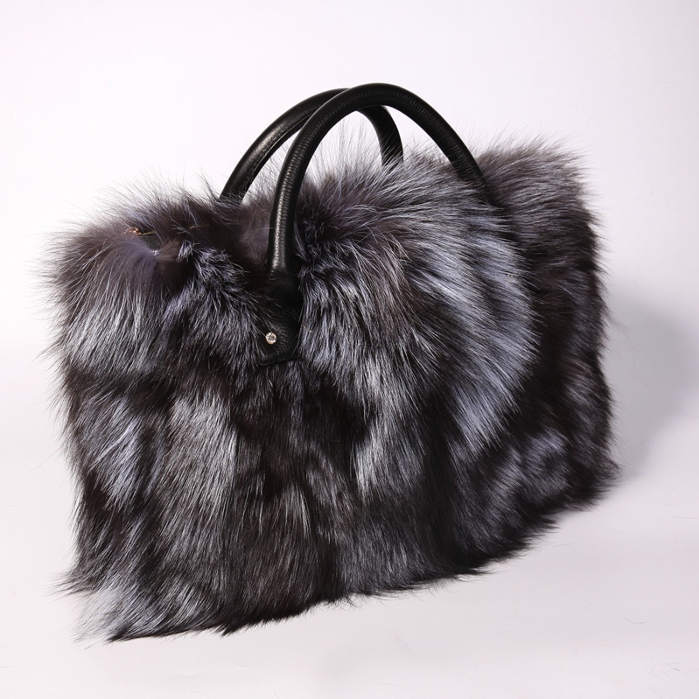 Multicolor Real Fox Fur Bag for Women with Single Strap Messenger Tote  Handbags Ladies Fur Shoulder Bags Gift Crossbody Clutch-in Shoulder Bags  from Luggage ... 0647c06ee67e6