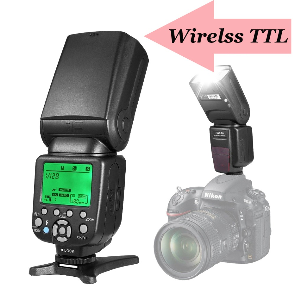 TRIOPO TR-586EX Wireless TTL Flash Speedlite Speedlight For Nikon d5300 d7200 d90Vs YONGNUO YN565EX YN-565EX YN-560 IV YN560 III 2017 triopo tr 586ex flash ttl speedlite wireless speedlight suit for nikon d750 d700 d7100 camera as yongnuo yn 568ex