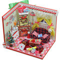 Christmas Dream Wooden Doll House with Furniture,Creative DIY Dollhouse Miniature Toys for Children's Christmas Gift