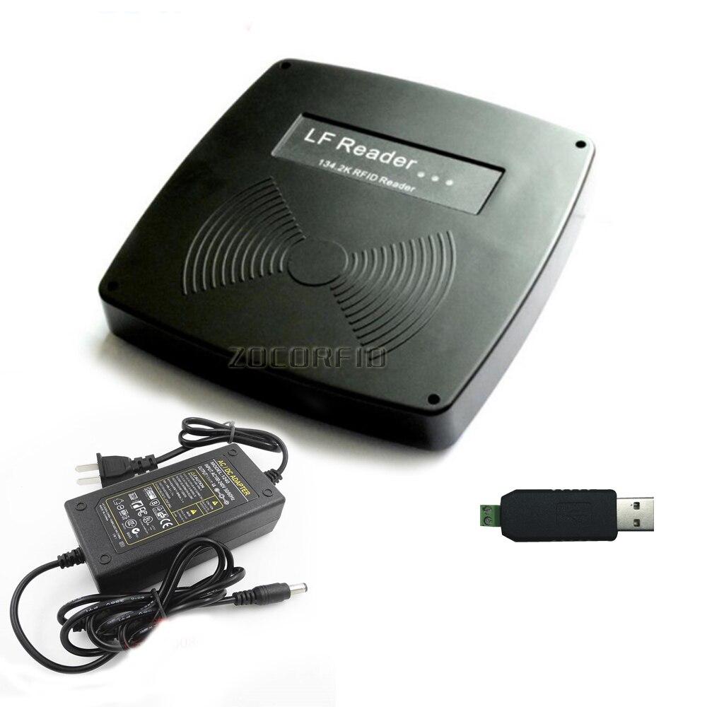 USB RS 485 Fdx B HDX бирки для животных микрочип ридер ISO11785/84 бирки для животных сканер + 1 кролик ухо тег