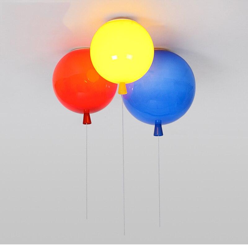 Romantic Colorful Balloon Ceiling Lights Baby Childrens Room Cozy Lamp Lustre Luminarias Minimalist Plafonnier Moderne Lamparas De Techo Ceiling Lights & Fans Lights & Lighting