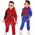 Ropa de los cabritos Spiderman Niños Ropa de Bebé Ropa de Los Muchachos de Los Niños Juegos de Deporte de Niño de Manga Larga ropa de Dormir