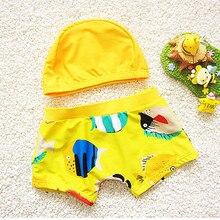 Г., новая летняя одежда для купания пляжные плавки для мальчиков купальный костюм с героями мультфильмов, Шорты плавки+ шапочка для плавания, Maillot De Bain