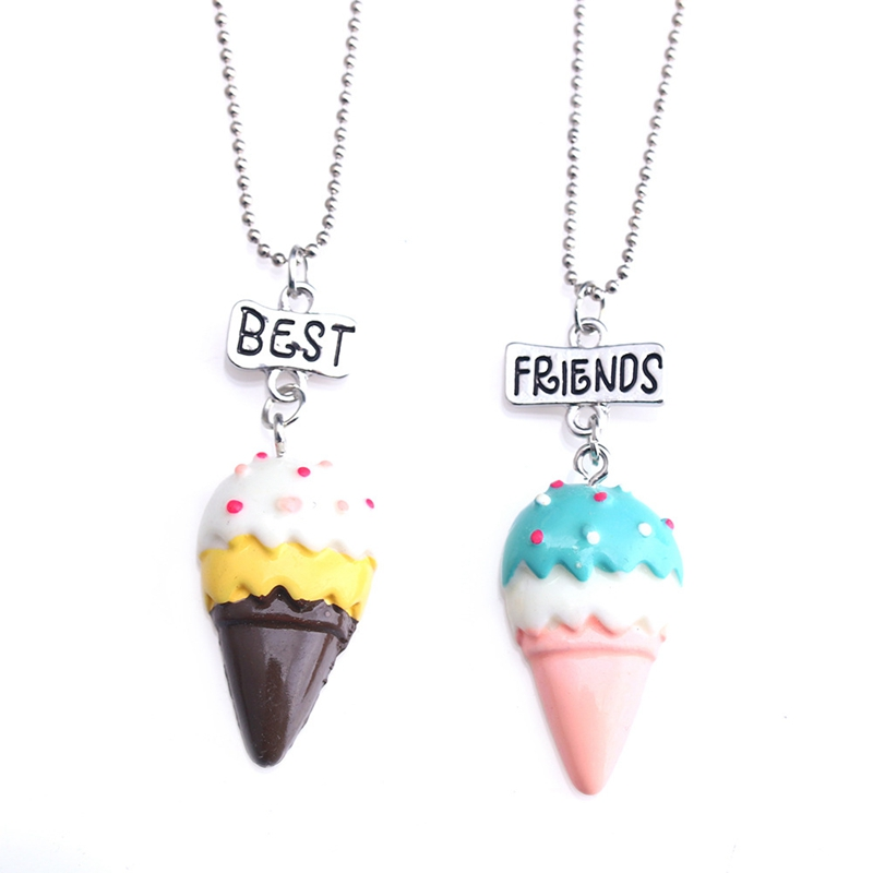 2PCS-Set-Best-Friends-Ice-Cream-Children-Necklaces-Kids-Stereo-soft-simulation-Imitation-Cake-Necklace-N803