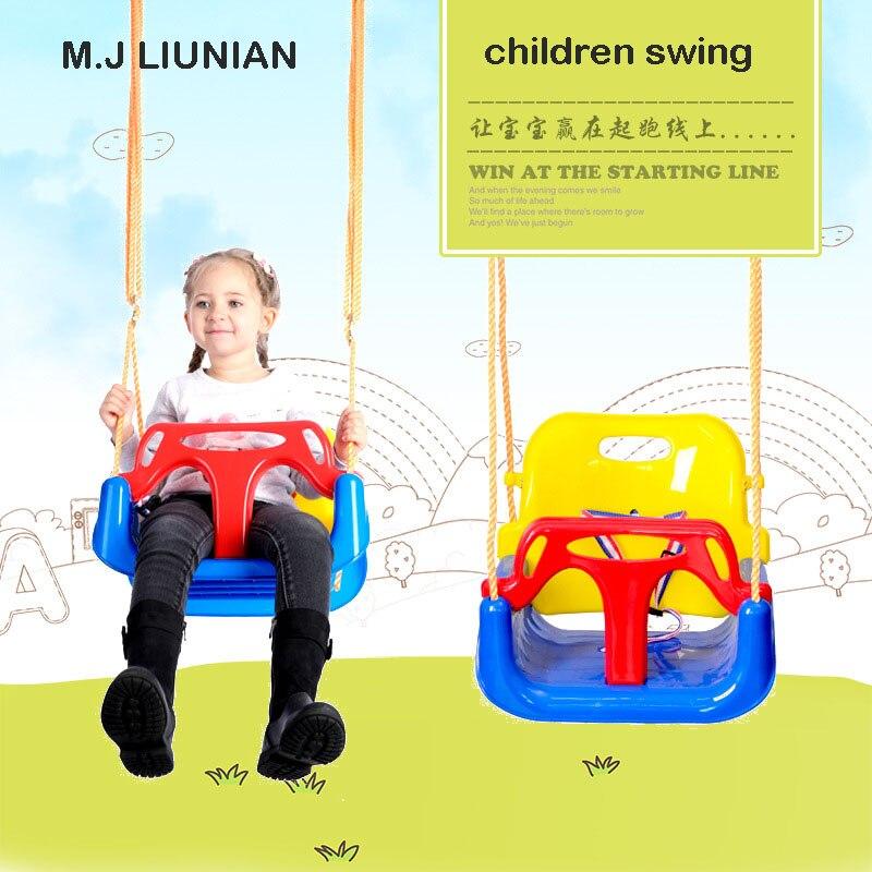 Balançoire enfants 3 en 1 combo enfants chaise enfant jouer en toute sécurité balançoires bébé sièges solides bébé balançoire siège de haute qualité plus récent M.J LIUNIAN
