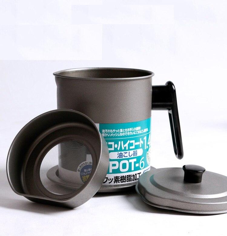 Xbees 1,4/1.7l Creativo Recipiente De Aceite A Prueba De Fugas Filtro De Aceite Frito Puede Botella De Aceite Bote De Almacenamiento Herramientas De Cocina
