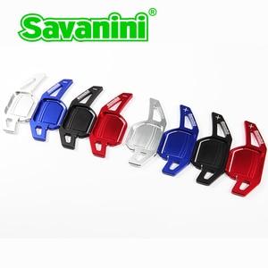 Image 2 - Savanini dsg volante mudança de engrenagem paddle shifter extensão para audi a3/a4/a5/q3/q5/tt/s3/r8/a6 acessórios do carro