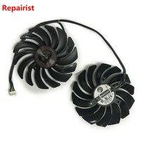 2pcs Lot Cooler Fans RX580 RX480 Video Card Cooling Fan For Radeon RX 480 MSI RX