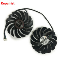 2pcs Lot Cooler Fans RX580 RX480 Video Card Cooling Fan For Radeon RX 480 MSI RX