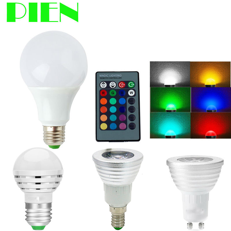 e27 e14 gu10 rgb led bulb bulb lamp mr16 3w 5w 5w dimmable bombillas ampoule 110v 220v. Black Bedroom Furniture Sets. Home Design Ideas