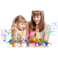 Cute Sound Bird Pets Toys For Children Baby Intelligent Music Digibirds With Birdcage Music Bird For