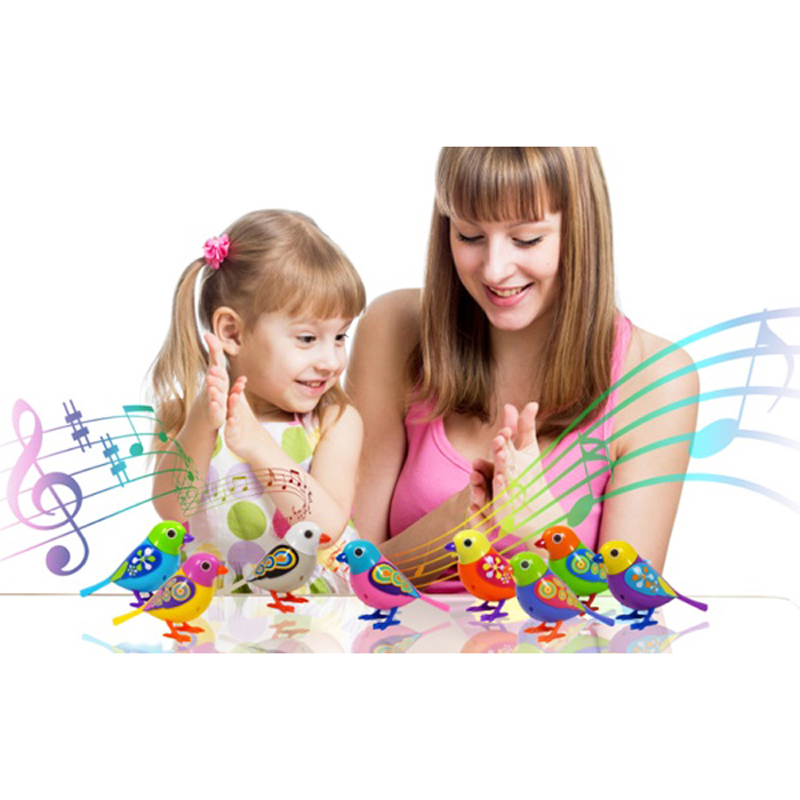 MYHOESWD Cute Sound Bird Pet Toys For Children Baby Intelligent Music Digibirds With Birdcage Music Bird For Kids Smart Toy Gift
